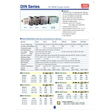Power Supply Din Rail Mean Well Model DR-75-24 24V