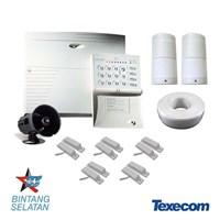 Jual 1 Set Perangkat Alarm Pencurian Untuk Keamanan (Kontrol Panel Alarm Texecom 8-16 Zone)