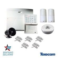 1 Set Perangkat Alarm Pencurian Untuk Keamanan (Kontrol Panel Alarm Texecom 8-16 Zone)