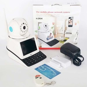Dari Kamera CCTV IP Kamera Wireless 4 In 1 : Dvr + Alarm + Video Call Robot Vision   2