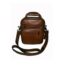 TAS KULIT AVIATOR STYLE SLING BAG BROWN KK-32