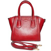 Jual Tas Wanita Kulit Mini Handbag Genuine Leather - Merah
