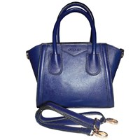 Jual Tas Wanita Kulit Mini Handbag Genuine Leather - Navy