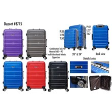 Dupont Koper Hardcase No Zipper 8775 Size 20&24inc Koper Branded