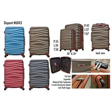 Dupont Koper Hardcase Anti Tusuk+Expander Set Size 20&24inc 6043 Koper Branded