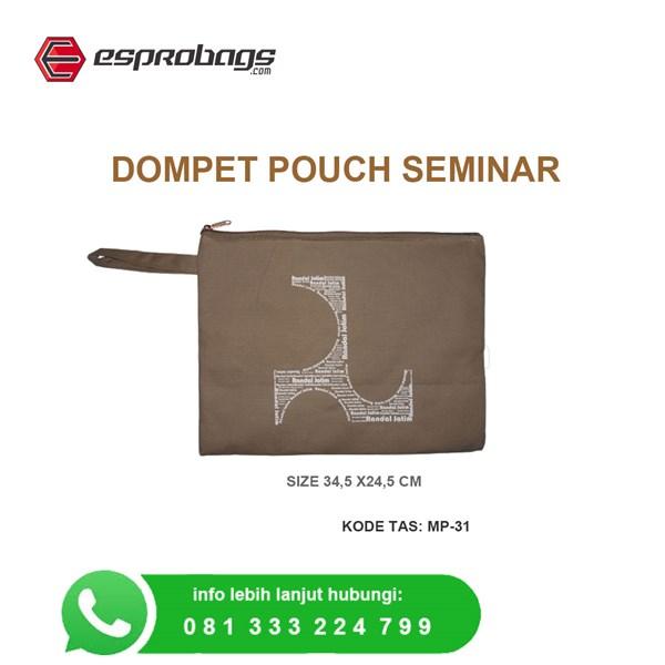 jual souvenir dompet pouch gratis sablon logo perusahaan anda