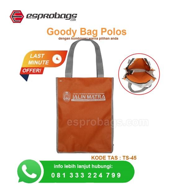 goody bag polos bahan tas aneka warna