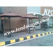 umbrella cafe teak