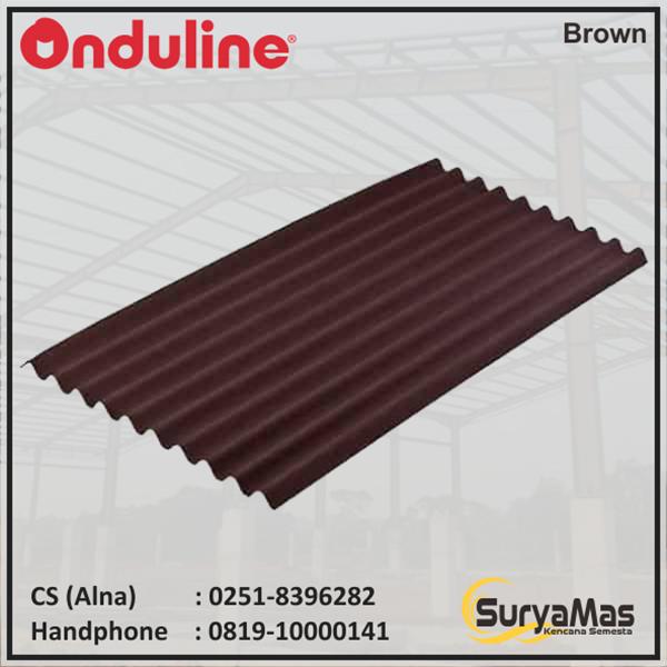 Atap Bitumen Onduline Klasik 3 mm Coklat