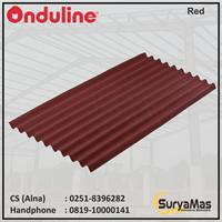 Atap Bitumen Onduline Klasik 3 mm Merah