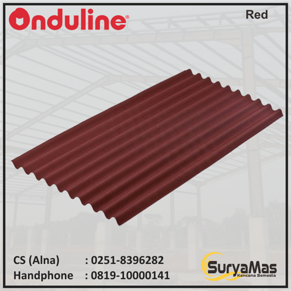 Bitumen Roofing Onduline Classic 3 mm Red