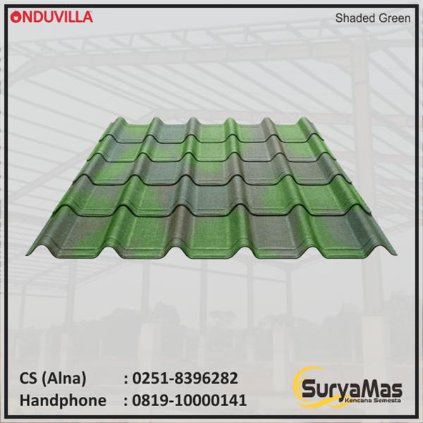 Onduvilla Bitumen Roof 3 mm Shaded Green