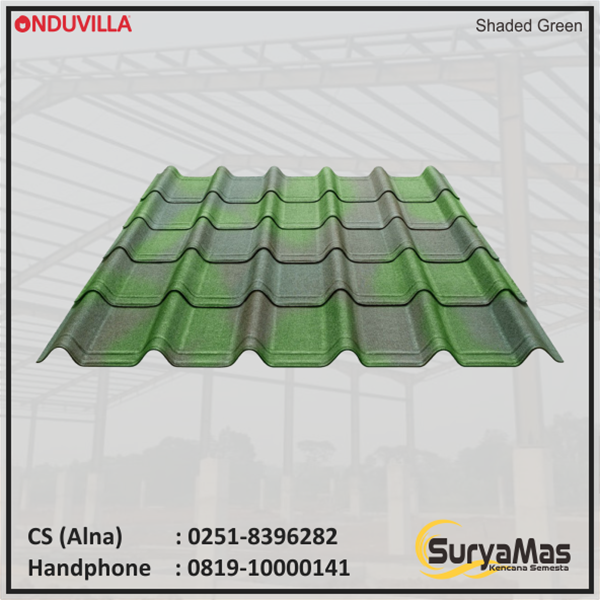 Atap Bitumen Onduvilla 3 mm Shaded Green