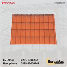 Onduvilla Bitumen Roof 3 mm Terracotta 3D