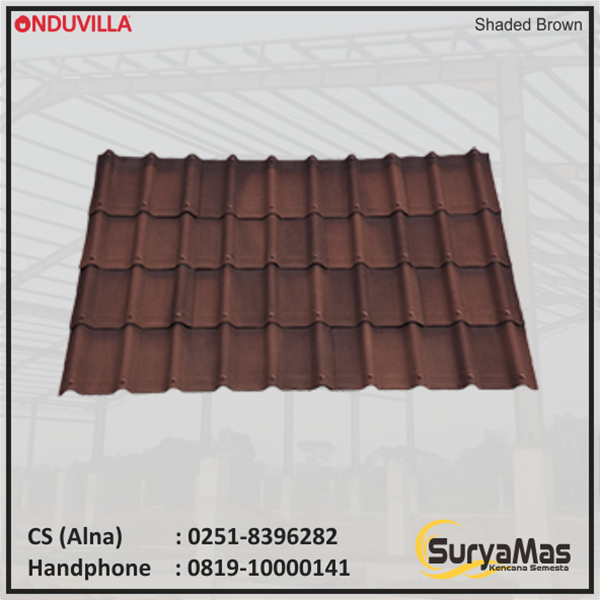 Atap Bitumen Onduvilla 3 mm Shaded Brown