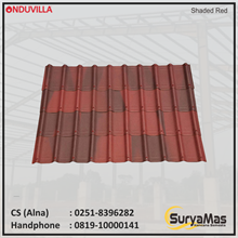 Atap Bitumen Onduvilla 3 mm Shaded Red