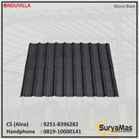 Atap Bitumen Onduvilla 3 mm Ebony Black