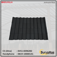 Atap Bitumen Onduvilla 3 mm Anthracite Black