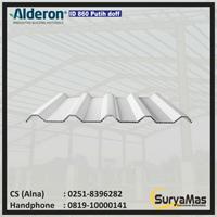 Atap UPVC Alderon ID Eff 860 mm Putih Doff