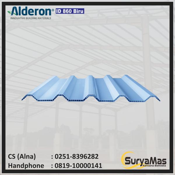 Atap UPVC Alderon ID Eff 860 mm Biru Doff