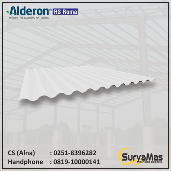 Atap UPVC Alderon RS Eff 760 mm Roma Putih