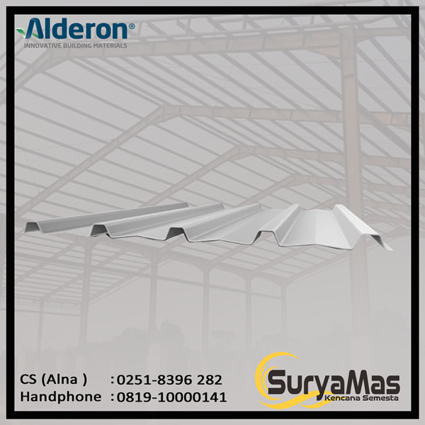 Atap UPVC Alderon RS Eff 760 mm Greca Putih