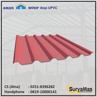 Atap UPVC Amanroof Eff 840 mm Merah