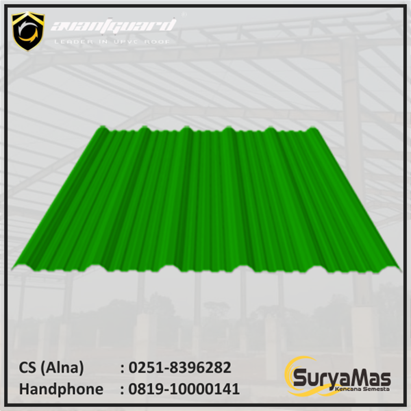 Atap UPVC Avantguard Eff 1050 mm Hijau
