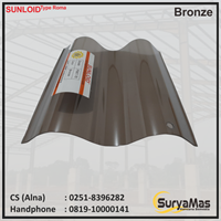 Atap Polycarbonate Sunloid 0.8 mm Roma Bronze