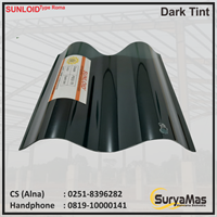 Atap Polycarbonate Sunloid 0.8 mm Roma Dark Tint