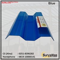 Atap Polycarbonate Sunloid 0.8 mm Greca Biru