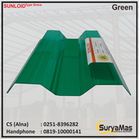 Atap Polycarbonate Sunloid 0.8 mm Greca Green