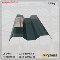 Atap Polycarbonate Sunloid 0.8 mm Greca Abu-abu