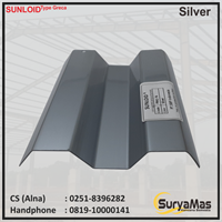 Atap Polycarbonate Sunloid 0.8 mm Greca Silver