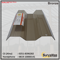 Atap Polycarbonate Sunloid 0.8 mm Greca Bronze