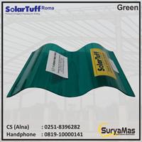 Atap Polycarbonate Solartuff 0.8 mm Roma Hijau