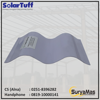 Atap Polycarbonate Solartuff 0.8 mm Roma Oval