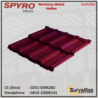 Genteng Metal Spyro tipe Helios Tebal 0.23 Lovely Red
