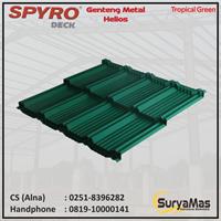 Genteng Metal Spyro tipe Helios Tebal 0.23 Tropical Green