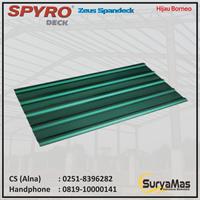 Atap Spandek Spyro tipe Zeus Eff 780 mm Hijau Borneo