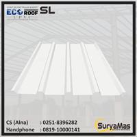 Atap UPVC Ecoroof SL Eff 760 mm Trimdeck Putih
