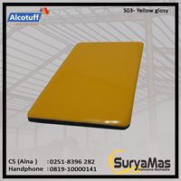 Aluminium Composite Panel S 03 Yellow Glossy