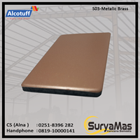 Aluminium Composite Panel S 03 Metalic Brass