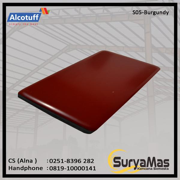 Aluminium Composite Panel S 05 Burgundy