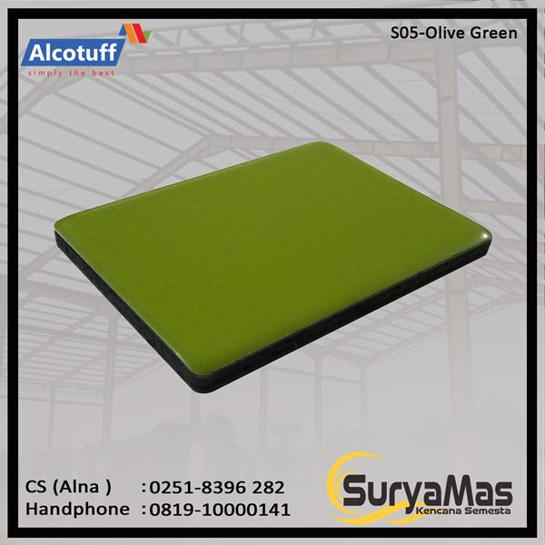 Aluminium Composite Panel S 05 Olive Green