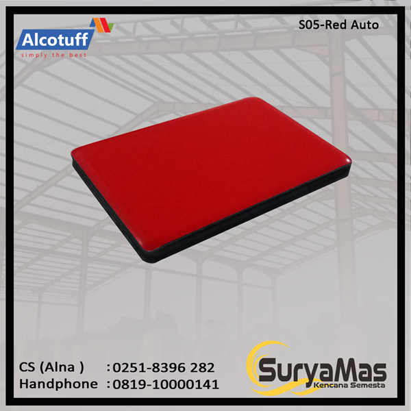 Aluminium Composite Panel S 05 Red Auto