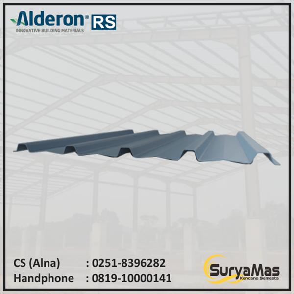 Atap UPVC Alderon RS Trimdeck Eff 76 cm Lite Grey