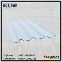 Atap UPVC Ecoroof DL Eff 86 cm Biru Doff