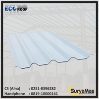 Atap UPVC Ecoroof DL Eff 86 cm Putih Doff