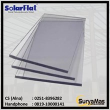 Atap Polycarbonate Solarflat 1.2 milimeter Bronze